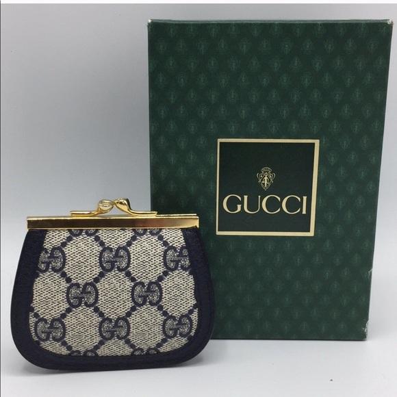 e3001ae00bce0 Authentic Vintage Gucci monogram coin purse